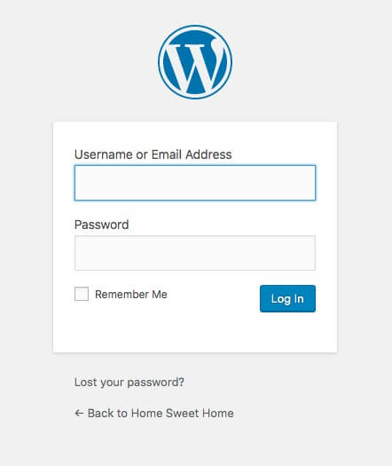 Login to WordPress Dashboard