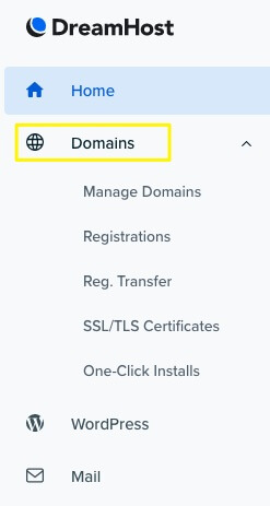 Manage the domains