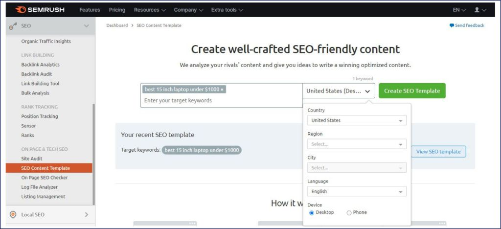 how to create SEO Template of a long-tail keyword
