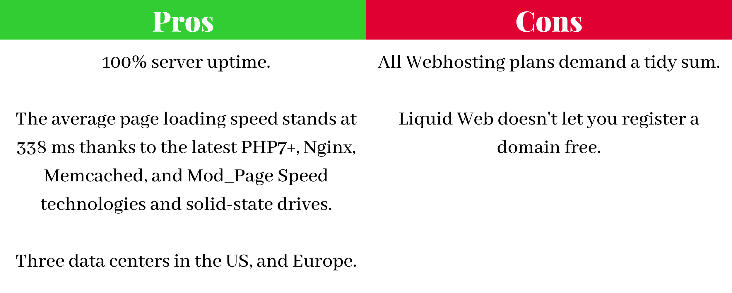 Pros and Cons of Liquid Web